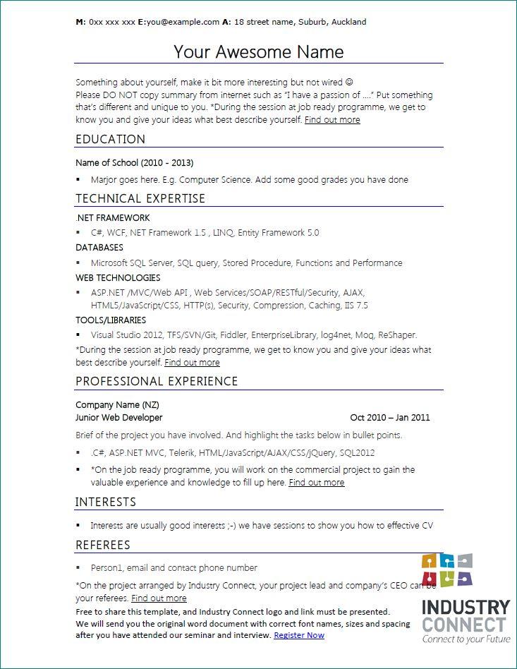 software developer resume template - Cv Software
