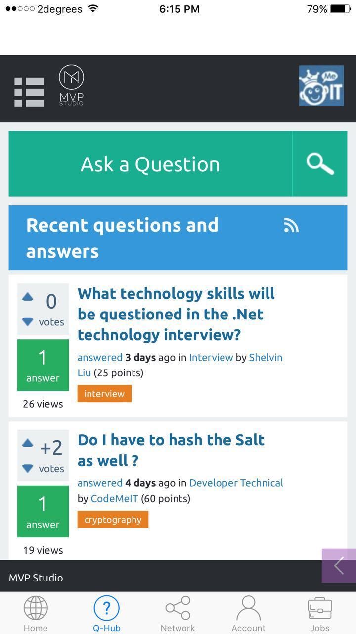 Software jobs app