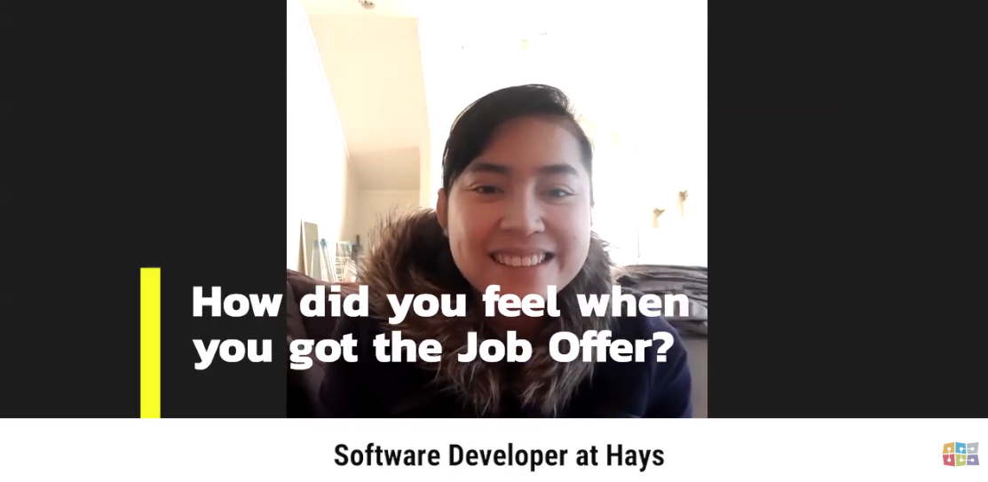 First job as a software developer