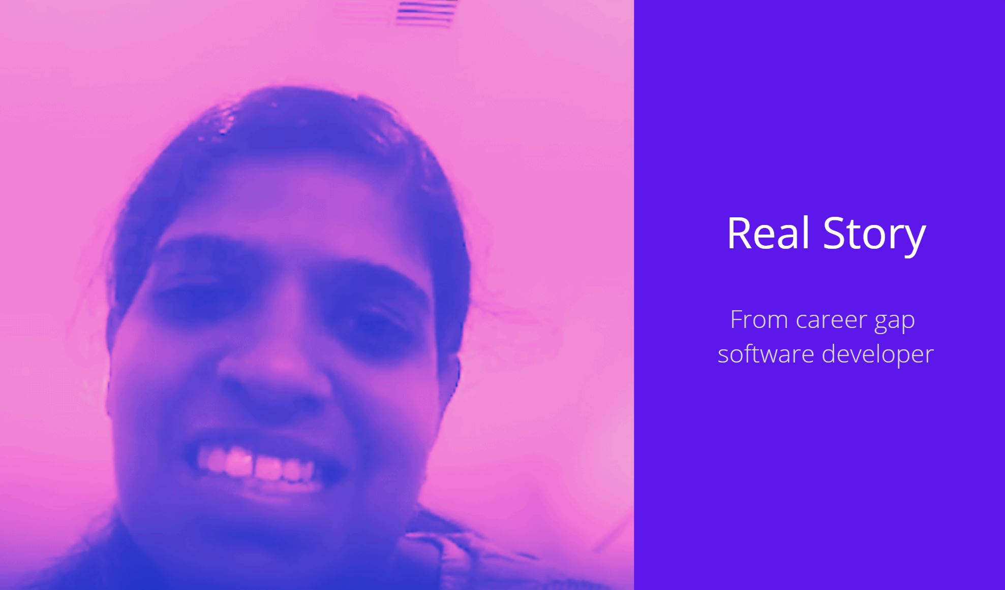 We helped Veena bridge her career gap of 1.5 years and get back into the working world as a .NET DEVELOPER