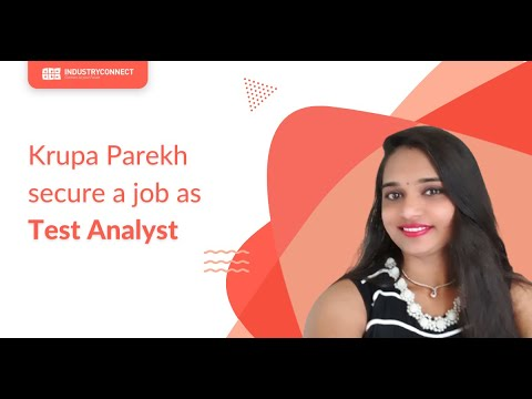 Krupa Parekh now has a Test Analyst job!
