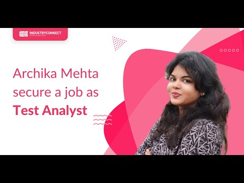 Archika Mehta just secured a job as Test Analyst!