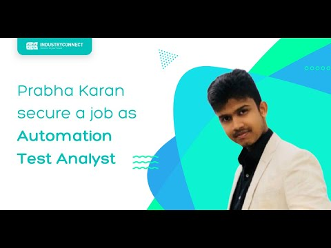 Prabha who has found a job as an automation test analyst