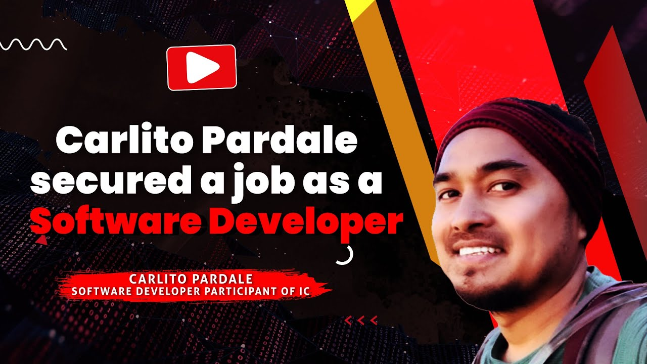 Carlito Pardales secured a job as a Software Developer